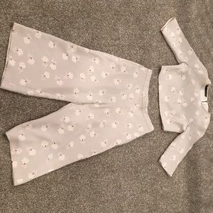Crop whole outfit flower design Zara brand new